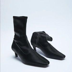 NWT Zara Heeled Boots